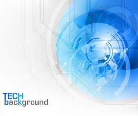 Modern tech with blue abstract elements vector