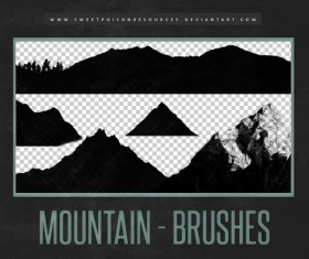 Mountain Photoshop Brushes