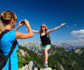 Mountaineering travel pictures taken Stock Photo