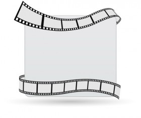 Movie film with paper background vector