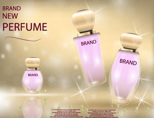 New perfume poster template vector 01