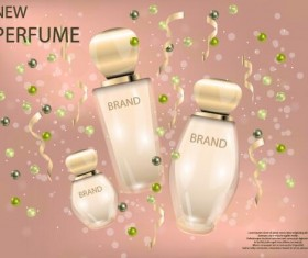 New perfume poster template vector 02