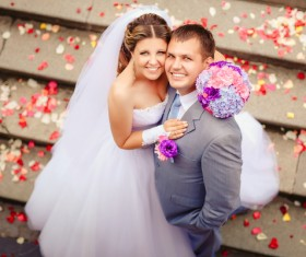 Newlyweds Stock Photo 01