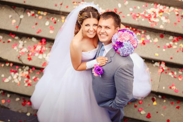 Newlyweds Stock Photo 01