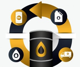 Oil infographic template design vectors 02