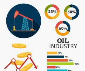 Oil infographic template design vectors 03