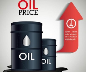 Oil infographic template design vectors 04