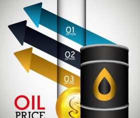 Oil infographic template design vectors 05