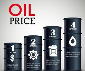 Oil infographic template design vectors 06