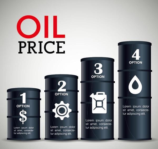 Oil infographic template design vectors 06 free download