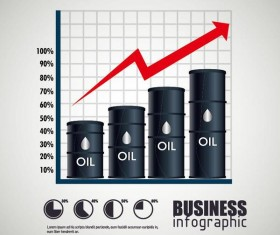 Oil infographic template design vectors 07