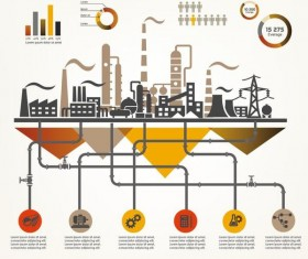 Oil infographic template design vectors 08