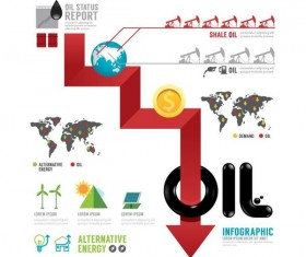Oil infographic template design vectors 09