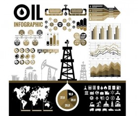 Oil infographic template design vectors 10