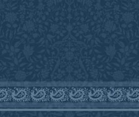 Ornate decor pattern with border vector material 11