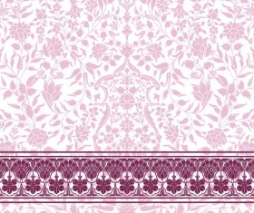 Ornate decor pattern with border vector material 14