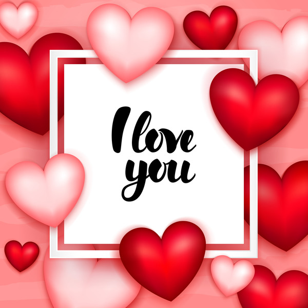 Paper frame with heart valentine day card vector