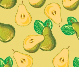 Pear green pattern seamless vector 01