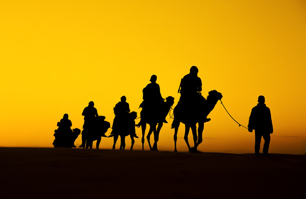 People in the desert experience camel travel Stock Photo 05