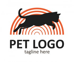 Pet logo creative design vector 01