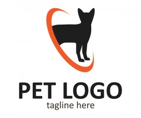 Pet logo creative design vector 02