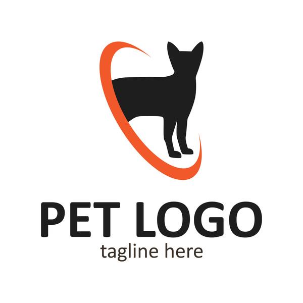 Pet logo creative design vector 02