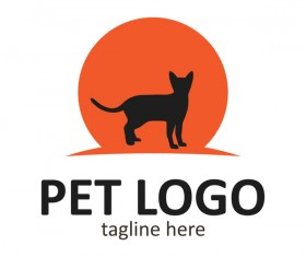 Pet logo creative design vector 03