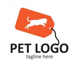 Pet logo creative design vector 04
