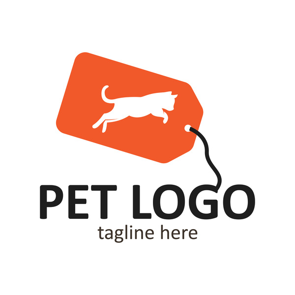Pet logo creative design vector 04