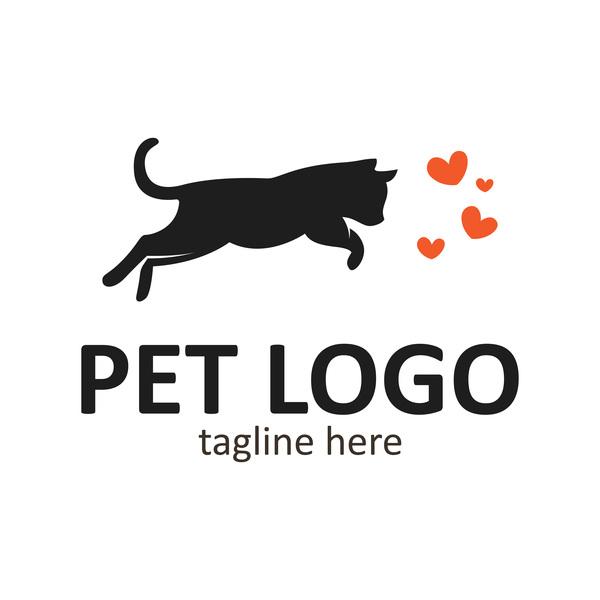 Pet logo creative design vector 05