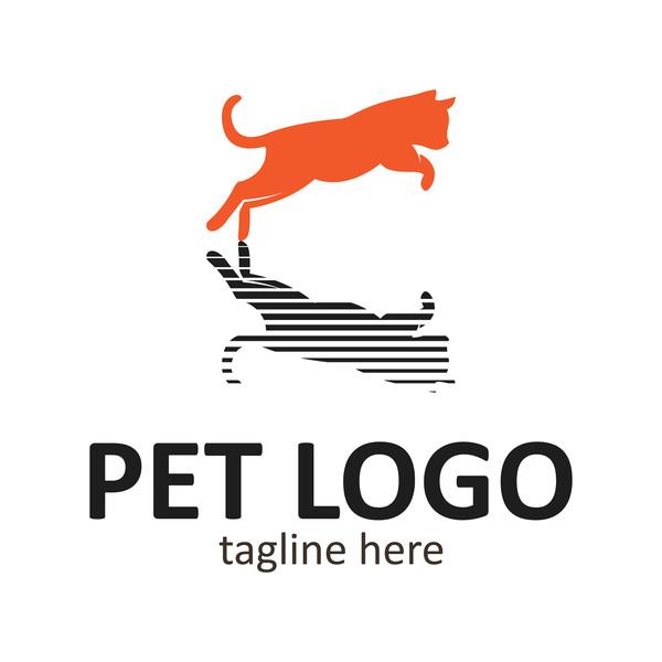 Pet logo creative design vector 06