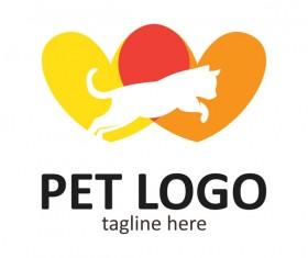 Pet logo creative design vector 07