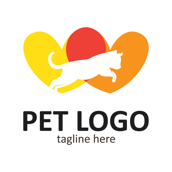 Pet logo creative design vector 07