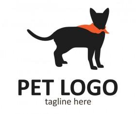 Pet logo creative design vector 08