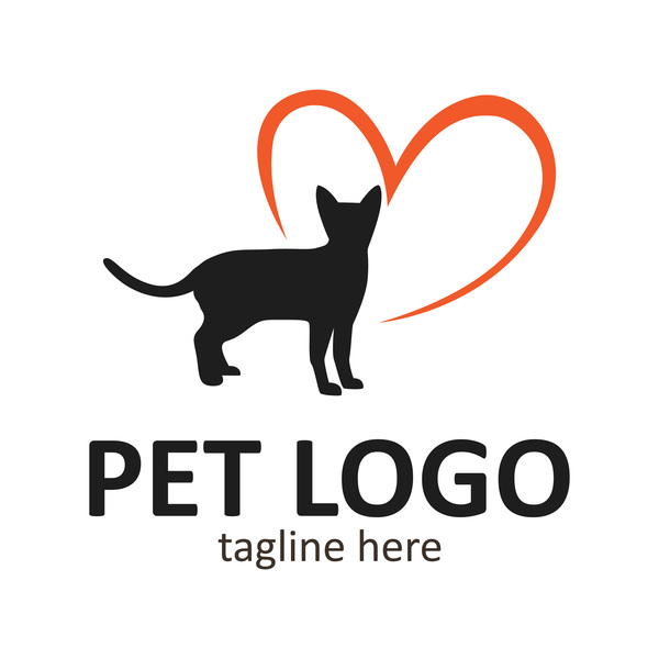 Pet logo creative design vector 09