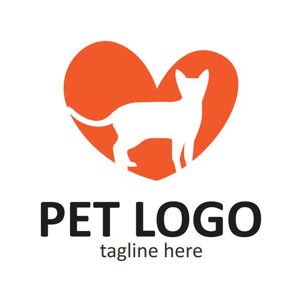 Pet logo creative design vector 10