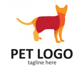 Pet logo creative design vector 11