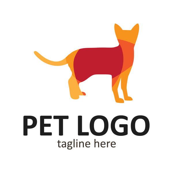 Pet logo creative design vector 11