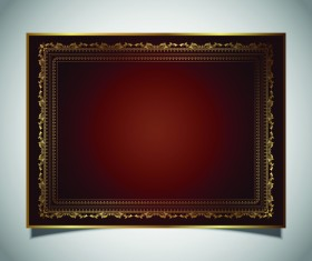 Photo golden frame vintage vector