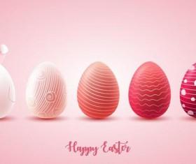Pink easter egg illustration vector