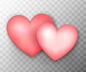 Pink heart shape illustration vector