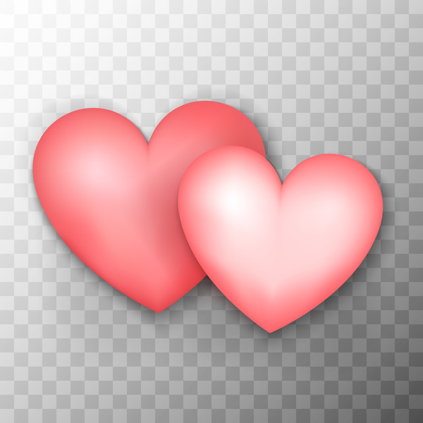 Pink heart shape illustration vector