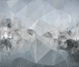 Points Lines with Polygon background vector 06