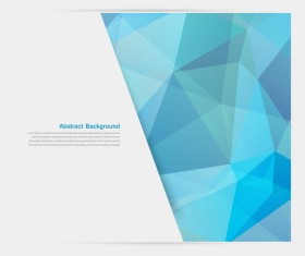 Polygon geometry with business background vector