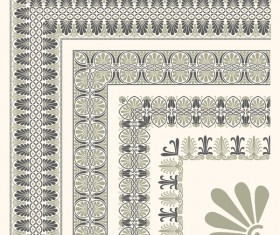 Rector corner decorative seamless border vector 03