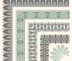 Rector corner decorative seamless border vector 04