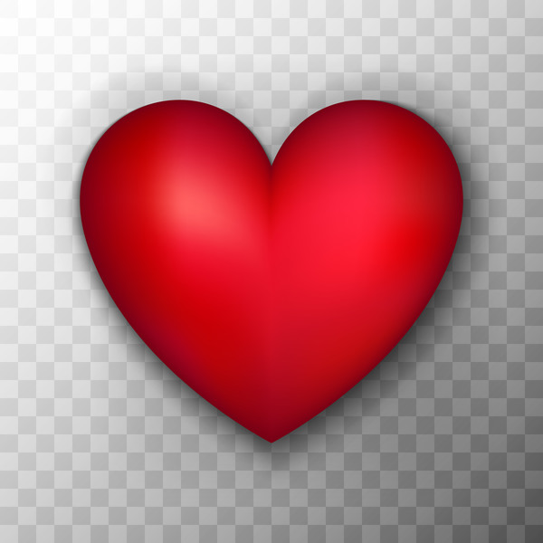 Red heart shape illustration vector 01