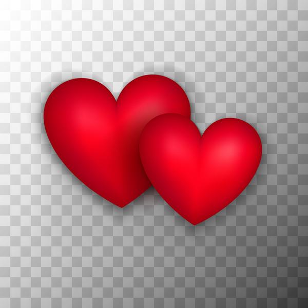 Red heart shape illustration vector 02