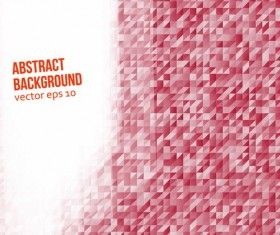 Red mosaic with modern background vector