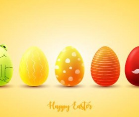 Red with yellow easter egg illustration vector